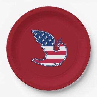Prato De Papel 4o patriótico dos EUA das placas de papel do