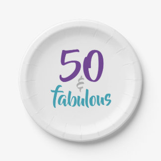 Prato De Papel 50 e fabuloso - 50th fontes da festa de