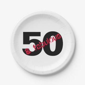 Prato De Papel 50 e fontes fabulosas do partido da festa de