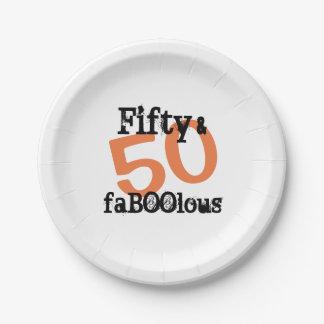 Prato De Papel 50 e o Dia das Bruxas fabuloso - cinqüênta e