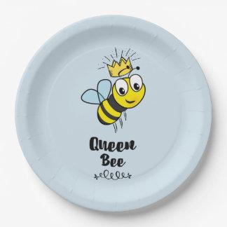 Prato De Papel A abelha de rainha bonito Bumble a abelha com