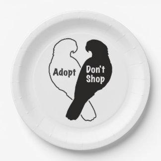 Prato De Papel A adopção do salvamento do papagaio não compra
