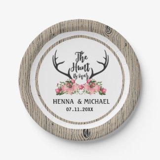Prato De Papel A caça está sobre o casamento floral de Barnwood