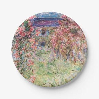 Prato De Papel A casa entre os rosas por Claude Monet