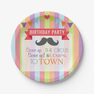 Prato De Papel A festa de aniversário das crianças do poster do