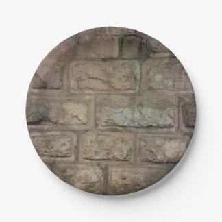 Prato De Papel A pedra denominou as placas de papel