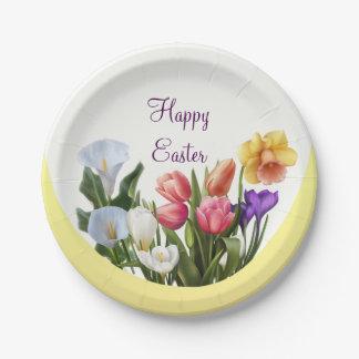 Prato De Papel A primavera floral da páscoa do primavera floresce