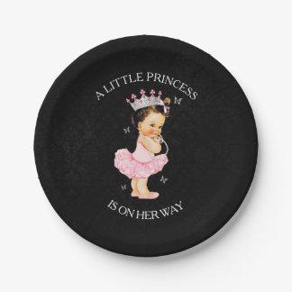 Prato De Papel A princesa é placas de um chá de fraldas da menina