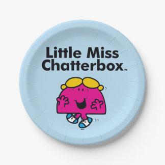 Prato De Papel A senhorita pequena pequena Chatterbox da