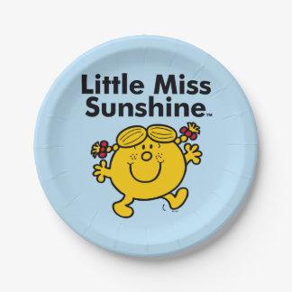 Prato De Papel A senhorita pequena pequena Luz do sol da