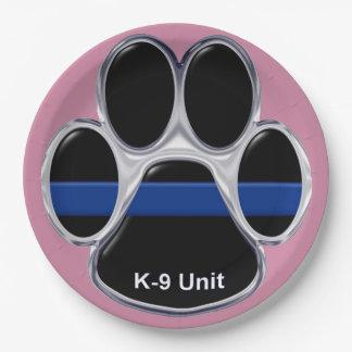 Prato De Papel A unidade K-9 dilui Blue Line