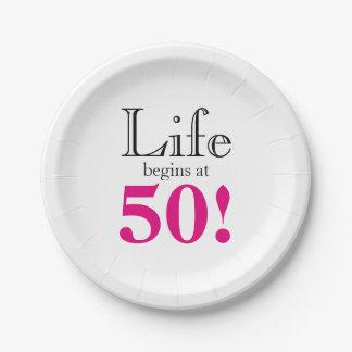 Prato De Papel A vida começa em 50
