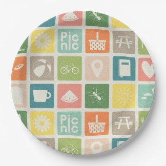 Prato De Papel A vida é placas de papel de um pictograma do