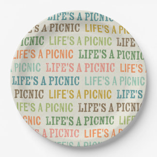 Prato De Papel A vida é placas de papel de um texto da cor do