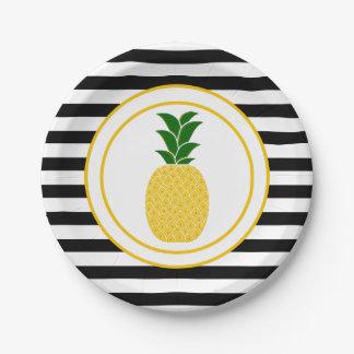 Prato De Papel Abacaxi amarelo elegante
