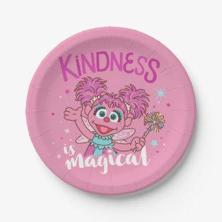 Prato De Papel Abby Cadabby - a bondade é mágica