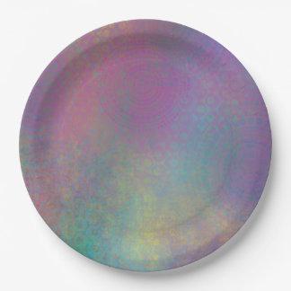 Prato De Papel Abstrato colorido com padrões & textura suja