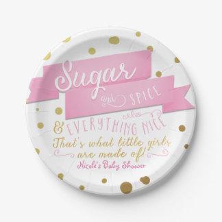 Prato De Papel Açúcar & especiaria & tudo placas agradáveis do