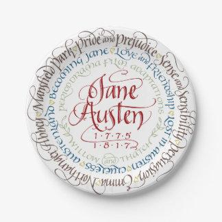 Prato De Papel Adaptações do drama de período de Jane Austen das