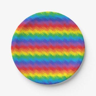 Prato De Papel Agitando o arco-íris