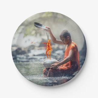 Prato De Papel Água e fogo