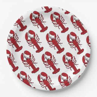 Prato De Papel Algum partido do assar/fervura da lagosta da