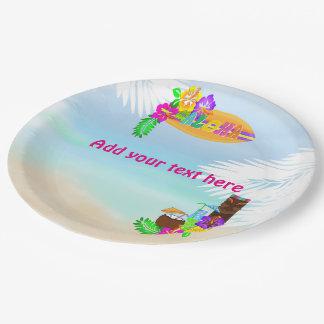 Prato De Papel Aloha placas de papel de Luau