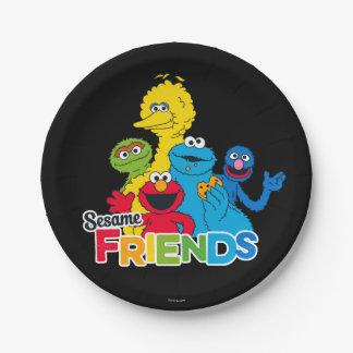Prato De Papel Amigos do sésamo do Sesame Street |