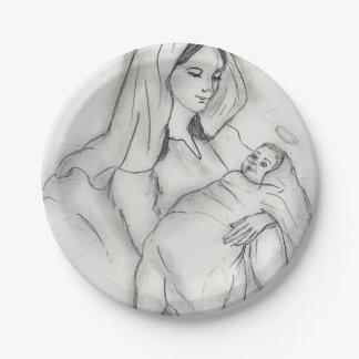 Prato De Papel Amor de mães