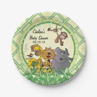 Prato De Papel Animais do bebê da selva do safari - chá de