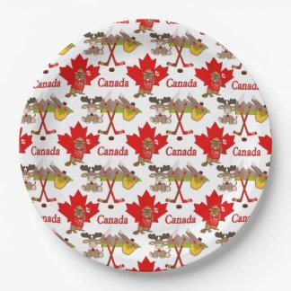 Prato De Papel Aniversário do canadense 150 da folha de bordo