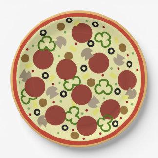 Prato De Papel Aniversário do partido da pizza