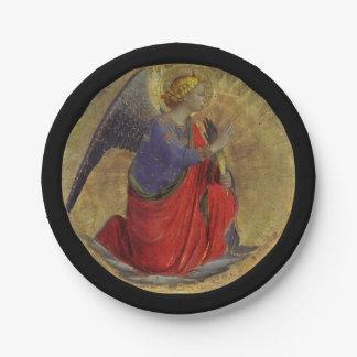 Prato De Papel Anjo do aviso por Fra Angelico
