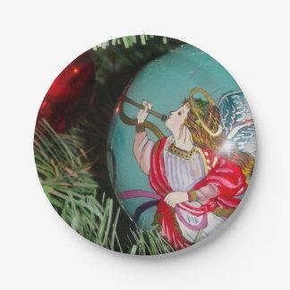 Prato De Papel Anjo do Natal - arte do Natal - decorações do anjo