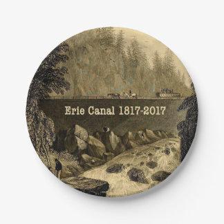 Prato De Papel Anos bicentenários históricos do canal de Erie