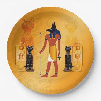 Prato De Papel Anubis, deus egípcio antigo