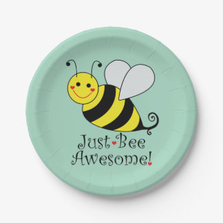Prato De Papel Apenas a abelha impressionante Bumble a abelha