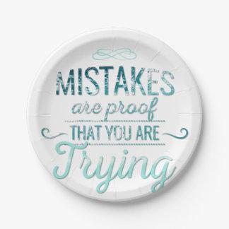 Prato De Papel Aprenda das citações inspiradores da tipografia