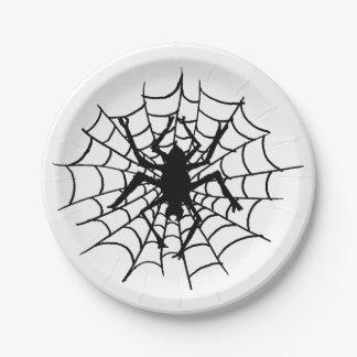 Prato De Papel Aranha do Dia das Bruxas nas placas da Web
