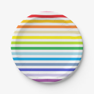 Prato De Papel Arco-íris mais largo do espectro e listras brancas