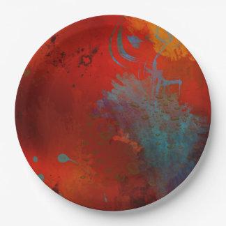 Prato De Papel Arte abstracta de Digitas do Grunge do vermelho,