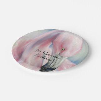 Prato De Papel Arte cor-de-rosa do Pastel do flamingo