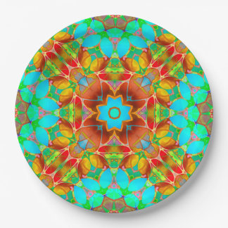 Prato De Papel Arte floral G410 do Fractal da placa de papel
