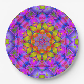 Prato De Papel Arte floral G445 do Fractal da placa de papel