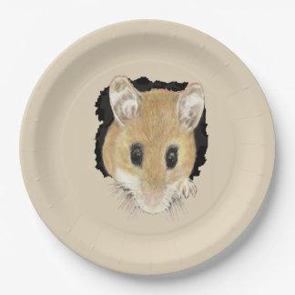 Prato De Papel Arte pequena bonito do animal do rato de bolso do