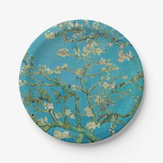 Prato De Papel Árvore de amêndoa de florescência por Van Gogh