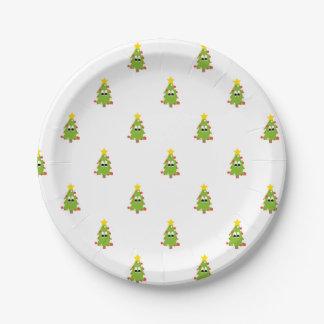 Prato De Papel Árvore de Natal