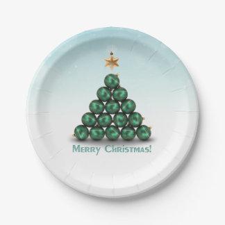 Prato De Papel Árvore de Natal do ornamento - placa de papel
