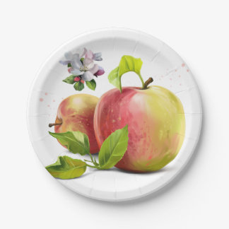 Prato De Papel As maçãs, florescem e espirram