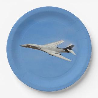 Prato De Papel Asas do bombardeiro do lanceiro de B-1B varridas